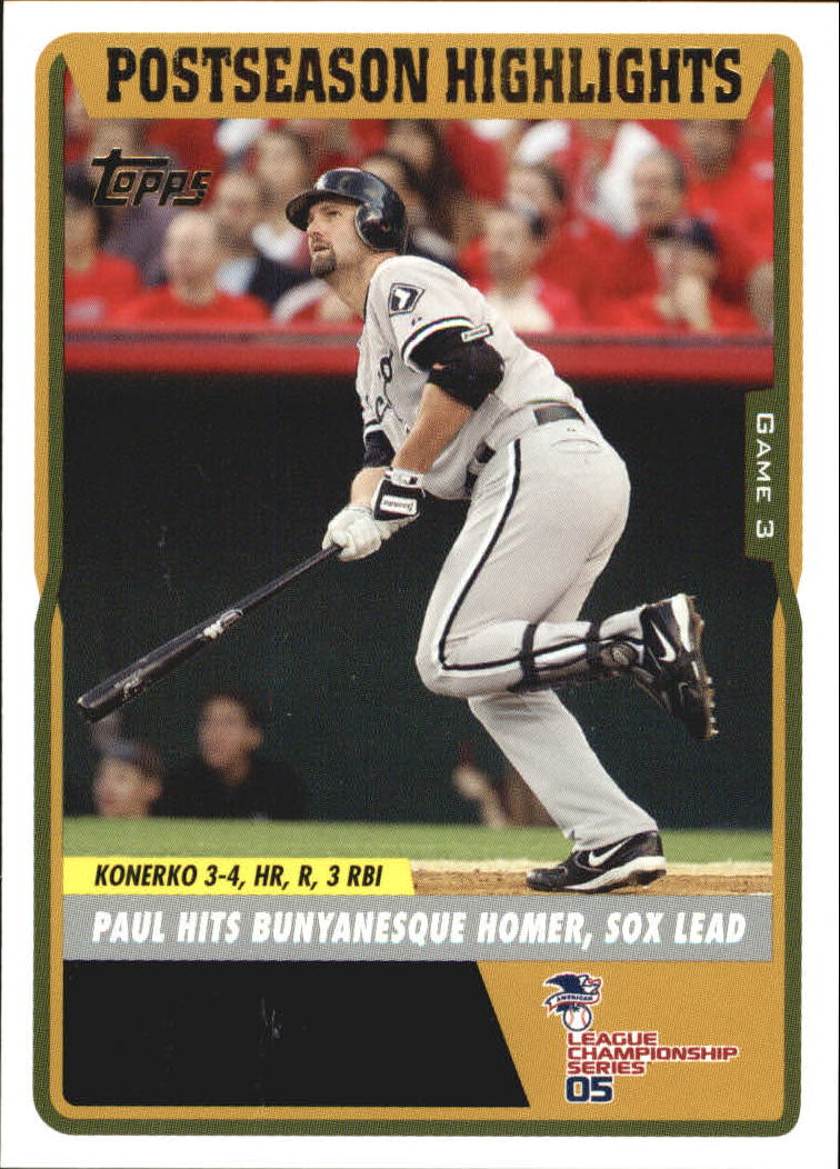 2005 Topps Update #122 Paul Konerko ALCS