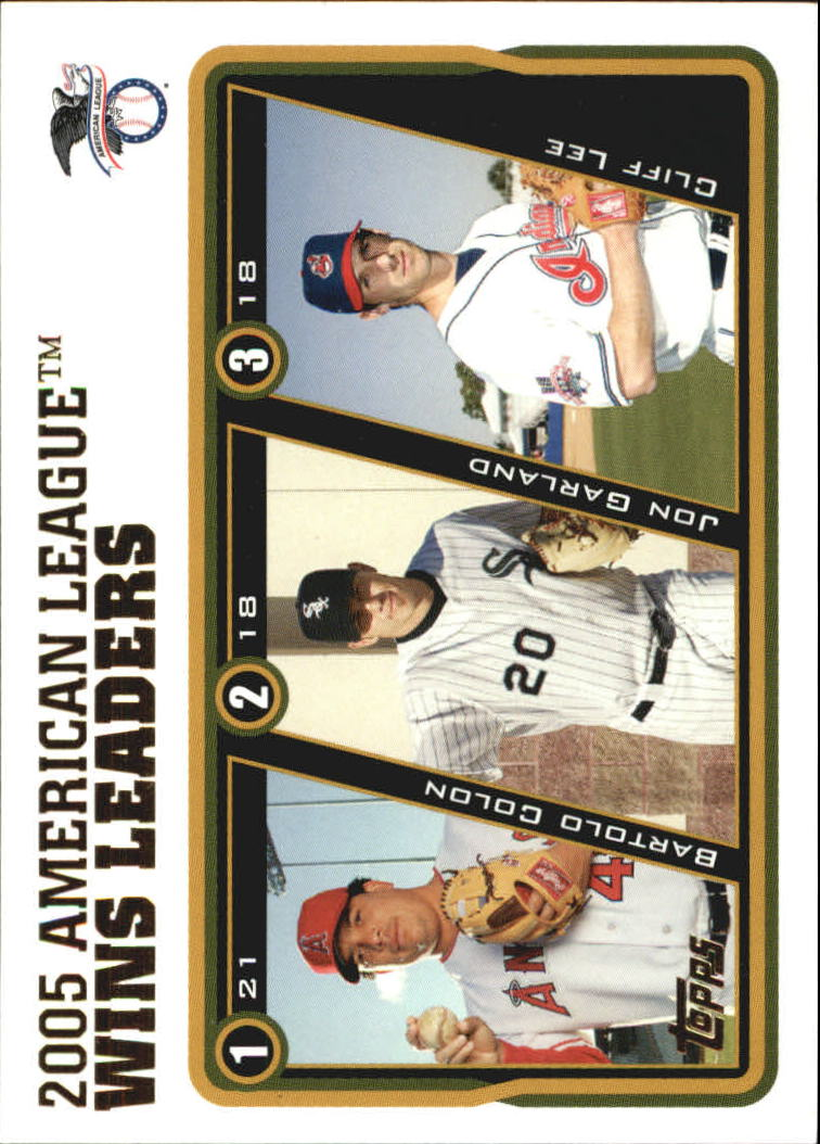 2005 Topps Update #138 Colon/Garland/Lee AL W