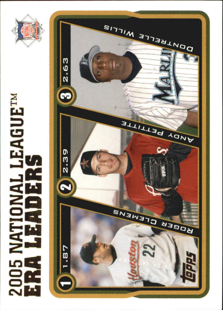 2005 Topps Update #145 Roger/Andy/Willis NL ERA