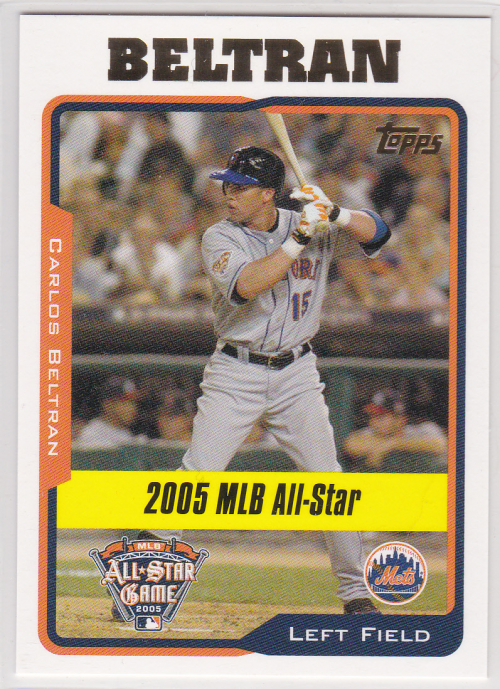 2005 Topps Update #186 Carlos Beltran AS