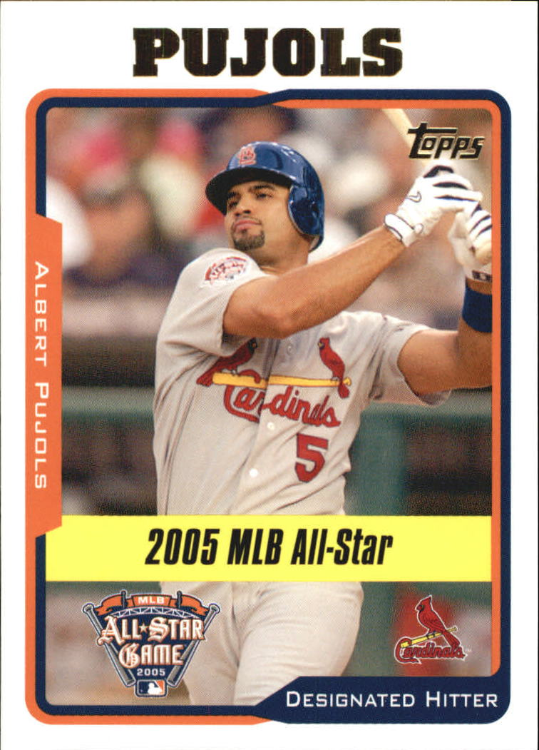 2005 Topps Update #187 Albert Pujols AS