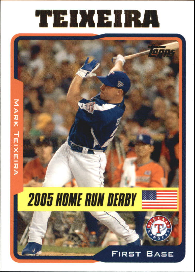 2005 Topps Update #201 Mark Teixeira HR