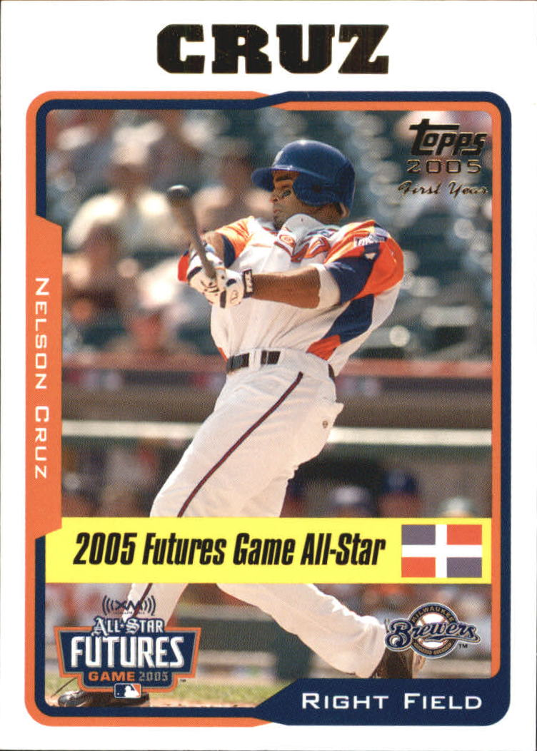 2005 Topps Update #206 Nelson Cruz FUT RC
