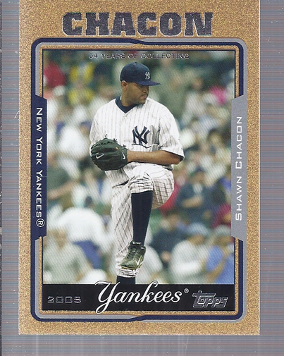 2005 Topps Update Gold #41 Shawn Chacon