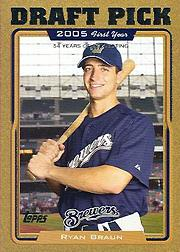 2005 Topps Update Gold #313 Ryan Braun DP
