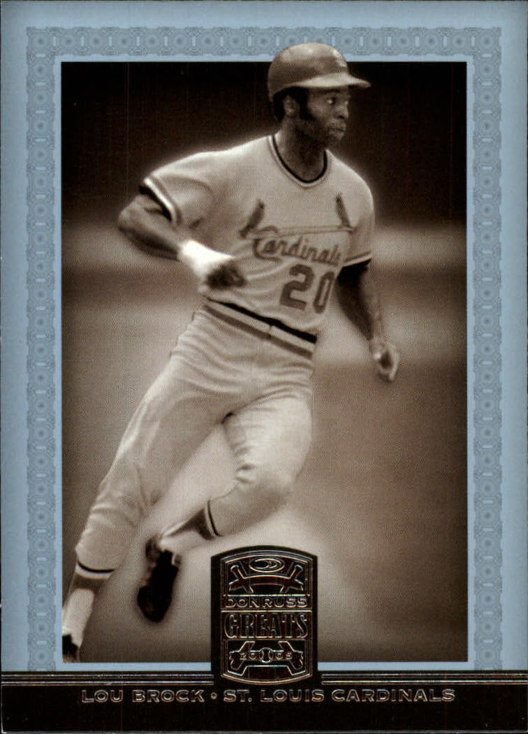 2005 Donruss Greats #97 Lou Brock