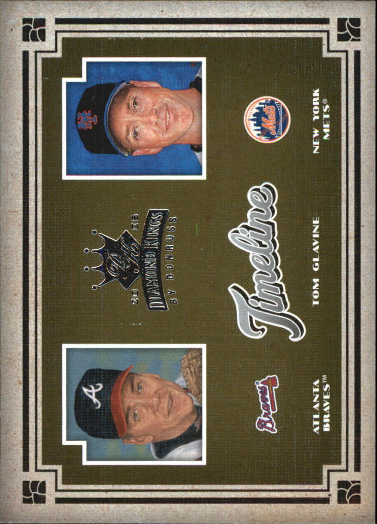 2005 Diamond Kings Timeline #10 Tom Glavine Braves-Mets