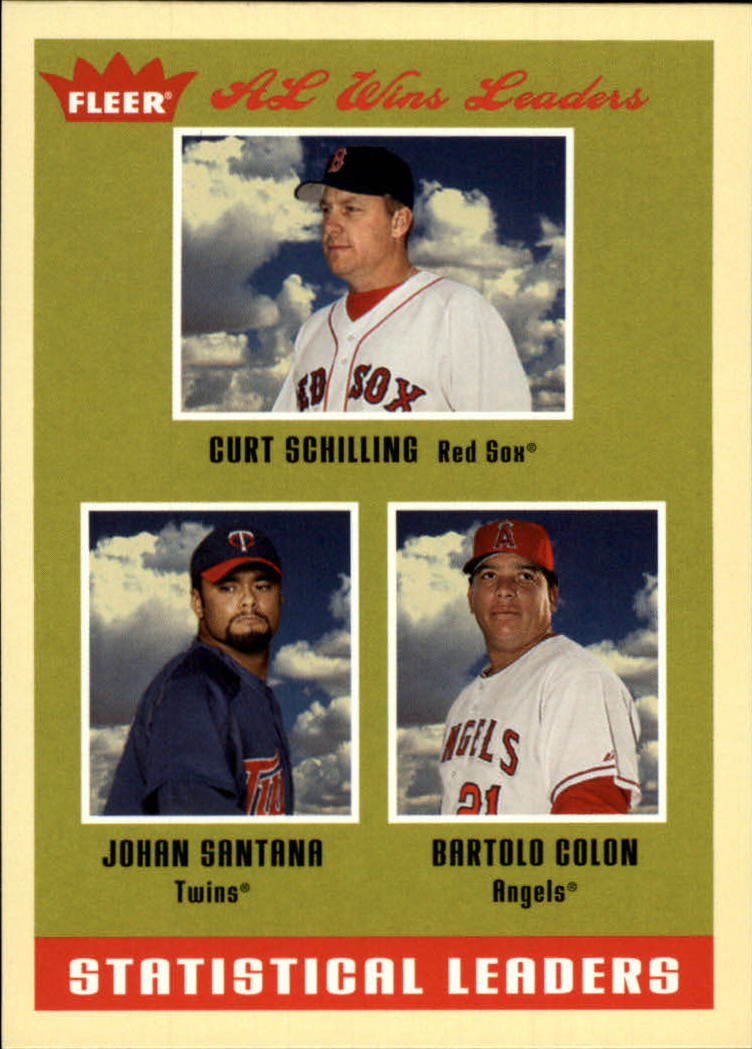 2005 Fleer Tradition #3 Johan/Colon/Schilling SL