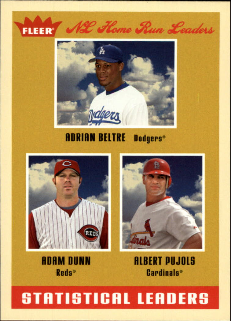 2005 Fleer Tradition #10 Pujols/Beltre/Dunn SL