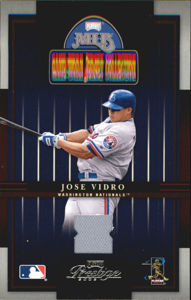 2005 Playoff Prestige Playoff MLB Game-Worn Jersey Collection #3 Jose Vidro