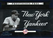 2005 Playoff Prestige Prestigious Pros Blue #2 Derek Jeter