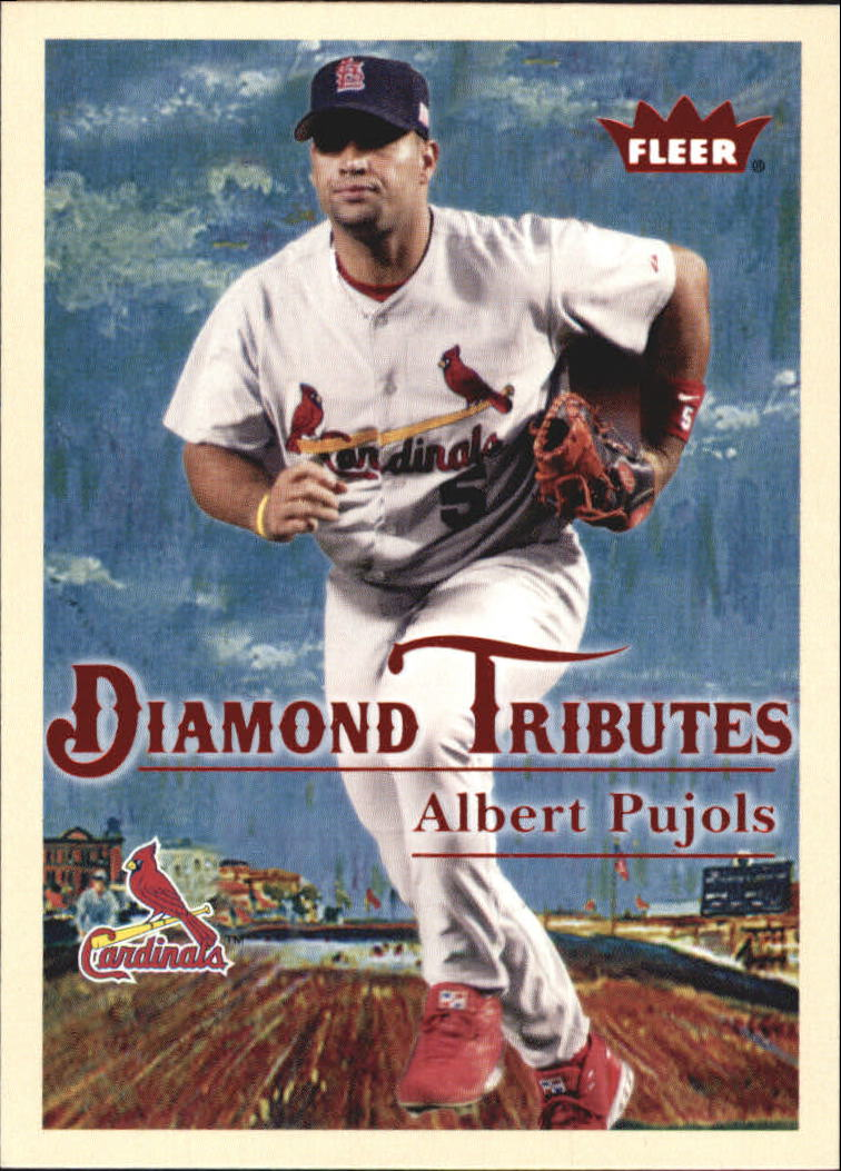 2005 Fleer Tradition Diamond Tributes #1 Albert Pujols