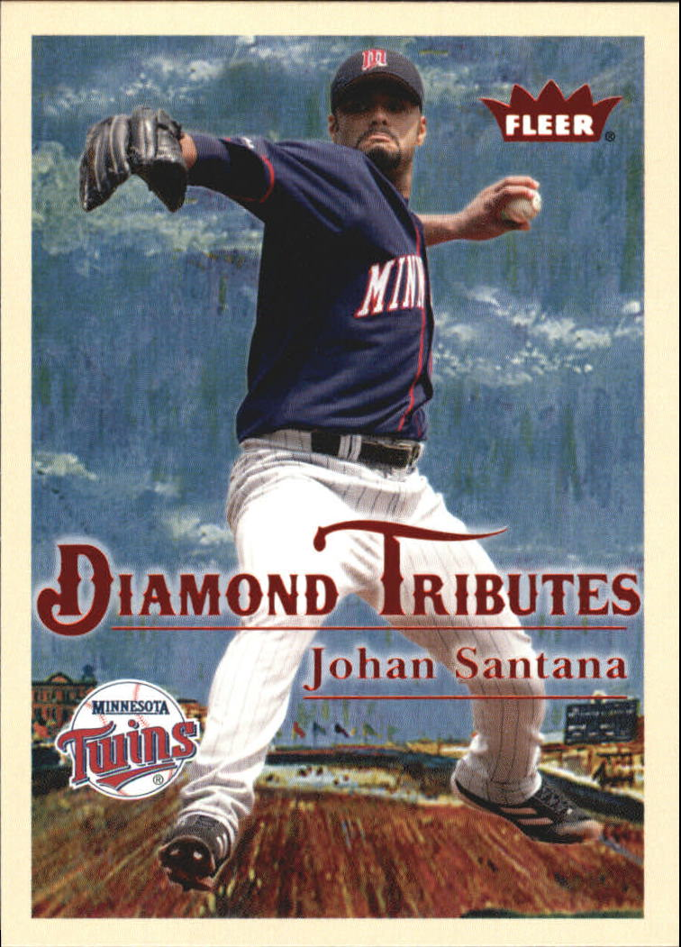 2005 Fleer Tradition Diamond Tributes #6 Johan Santana
