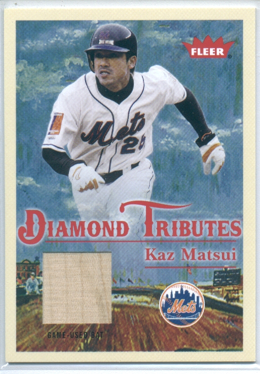 2005 Fleer Tradition Diamond Tributes Game Used #KM Kaz Matsui Bat