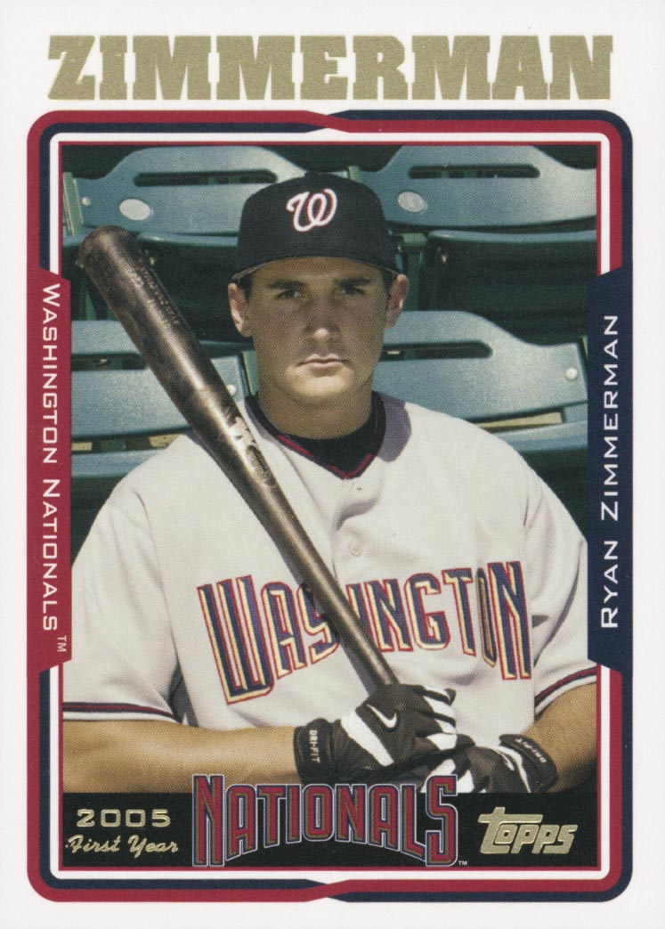 2005 Topps Factory Set First Year Draft Bonus #7 Ryan Zimmerman