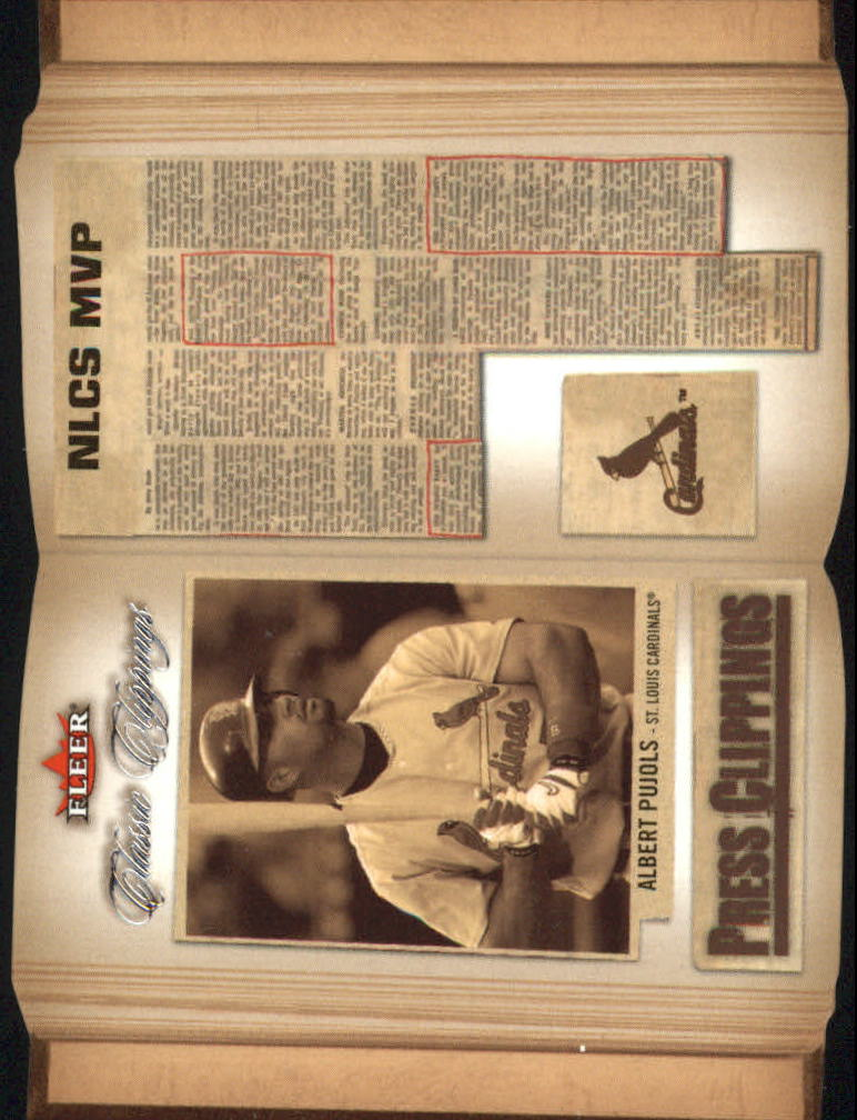 2005 Classic Clippings Press Clippings #3 Albert Pujols