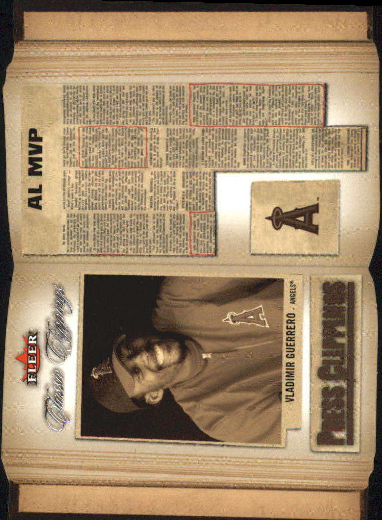 2005 Classic Clippings Press Clippings #7 Vladimir Guerrero