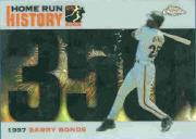2005 Topps Chrome Update Barry Bonds Home Run History Black Refractors #350 Barry Bonds