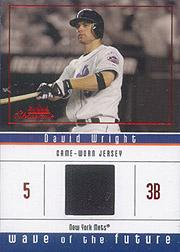 2005 Fleer Showcase Wave of the Future Jersey Red #DW David Wright
