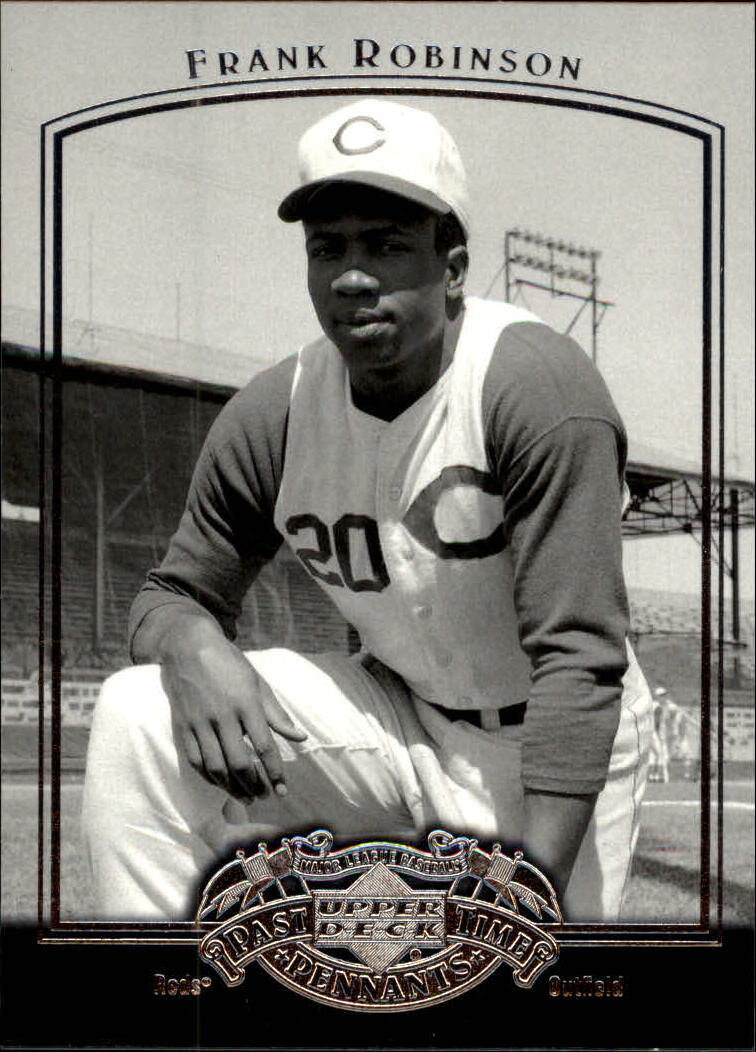 2005 UD Past Time Pennants #30 Frank Robinson