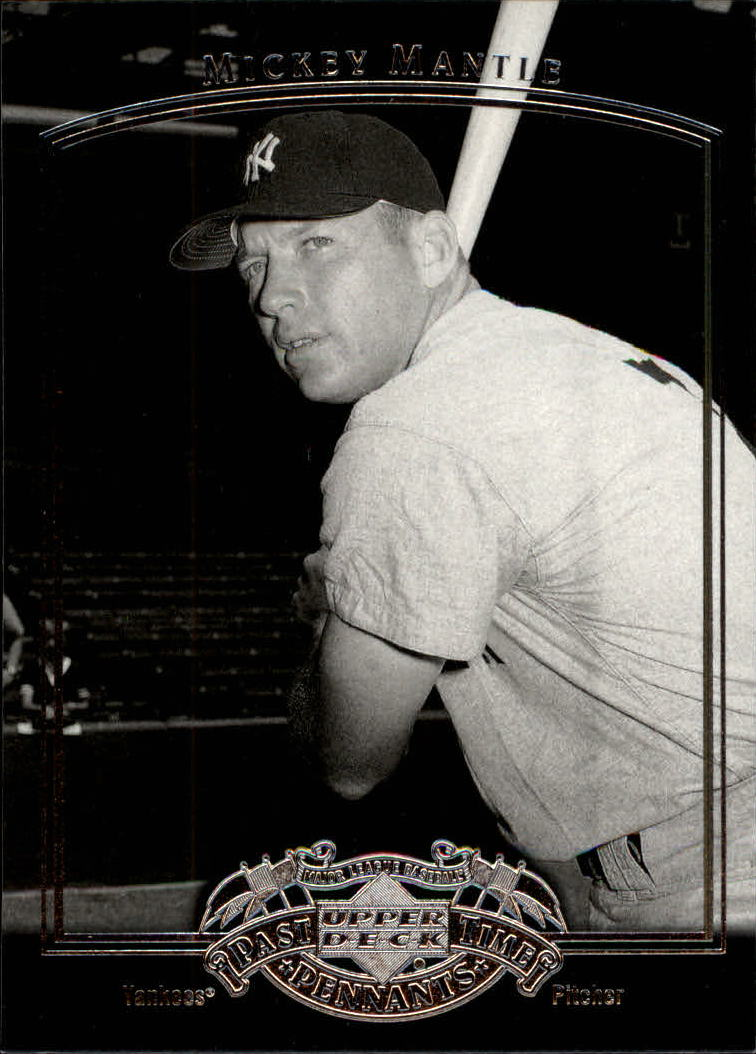 2005 UD Past Time Pennants #56 Mickey Mantle