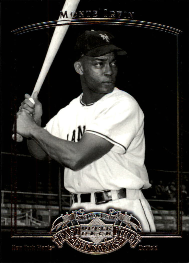 2005 UD Past Time Pennants #58 Monte Irvin