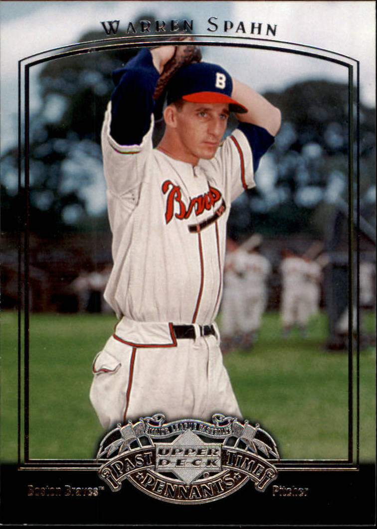 2005 UD Past Time Pennants #85 Warren Spahn