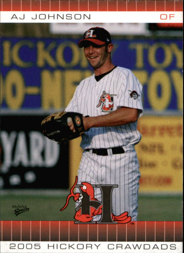 2005 Hickory Crawdads Multi-Ad #17 A.J. Johnson