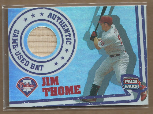 2005 Topps Pack Wars Relics #JT Jim Thome Bat B