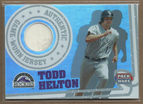 2005 Topps Pack Wars Relics #TH Todd Helton Jsy B