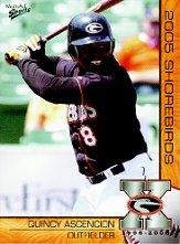 2005 Delmarva Shorebirds Multi-Ad #1 Quincy Ascencion