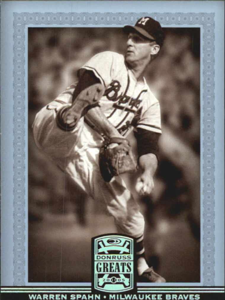 2005 Donruss Greats Silver HoloFoil #95 Warren Spahn