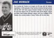 2005 Trenton Thunder Multi-Ad #4 Zac Womack