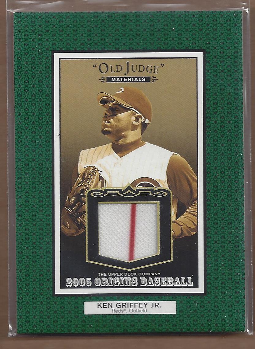 2005 Origins Old Judge Materials Jersey #KG Ken Griffey Jr.