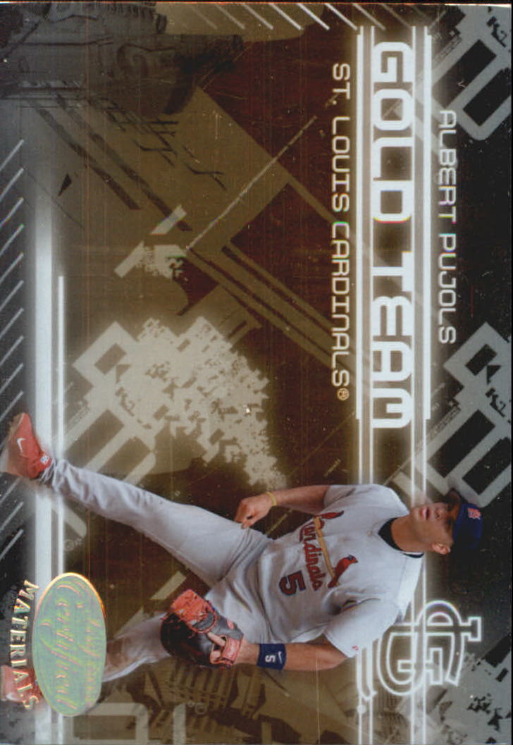 2005 Leaf Certified Materials Gold Team #1 Albert Pujols