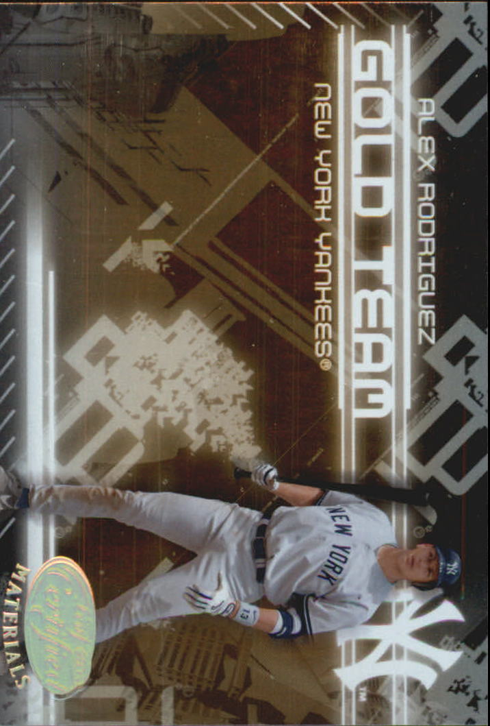2005 Leaf Certified Materials Gold Team #2 Alex Rodriguez