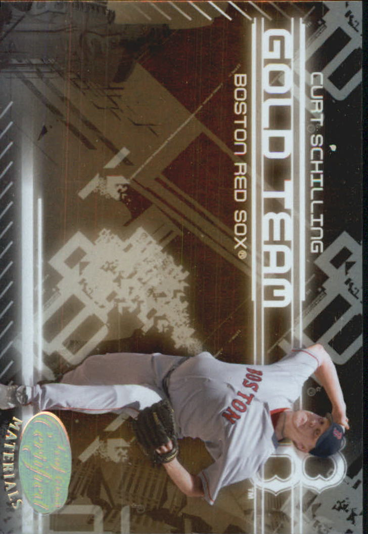 2005 Leaf Certified Materials Gold Team #5 Curt Schilling