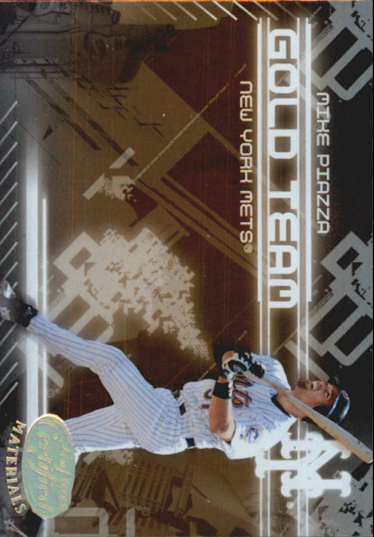 2005 Leaf Certified Materials Gold Team #19 Mike Piazza