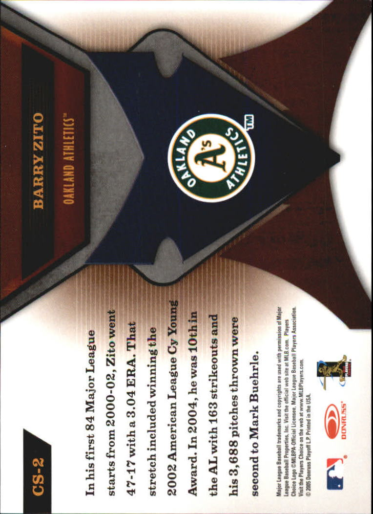 2005 Leaf Certified Materials Skills #2 Barry Zito back image