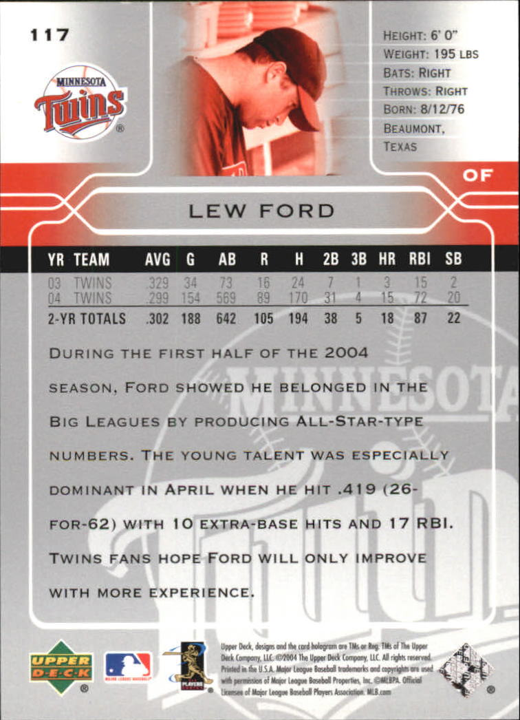 2005 Upper Deck #117 Lew Ford back image