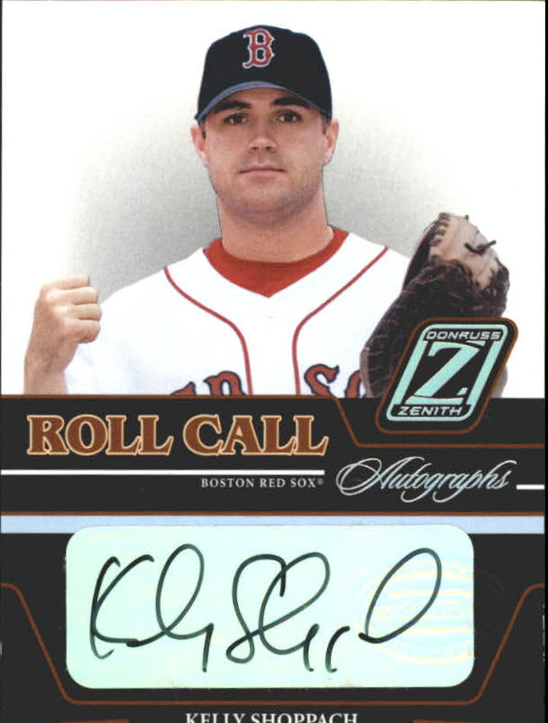2005 Zenith Roll Call Autographs #8 Kelly Shoppach T2