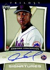 2005 Upper Deck Trilogy Generations Future Signatures Bronze #AC Ambiorix Concepcion