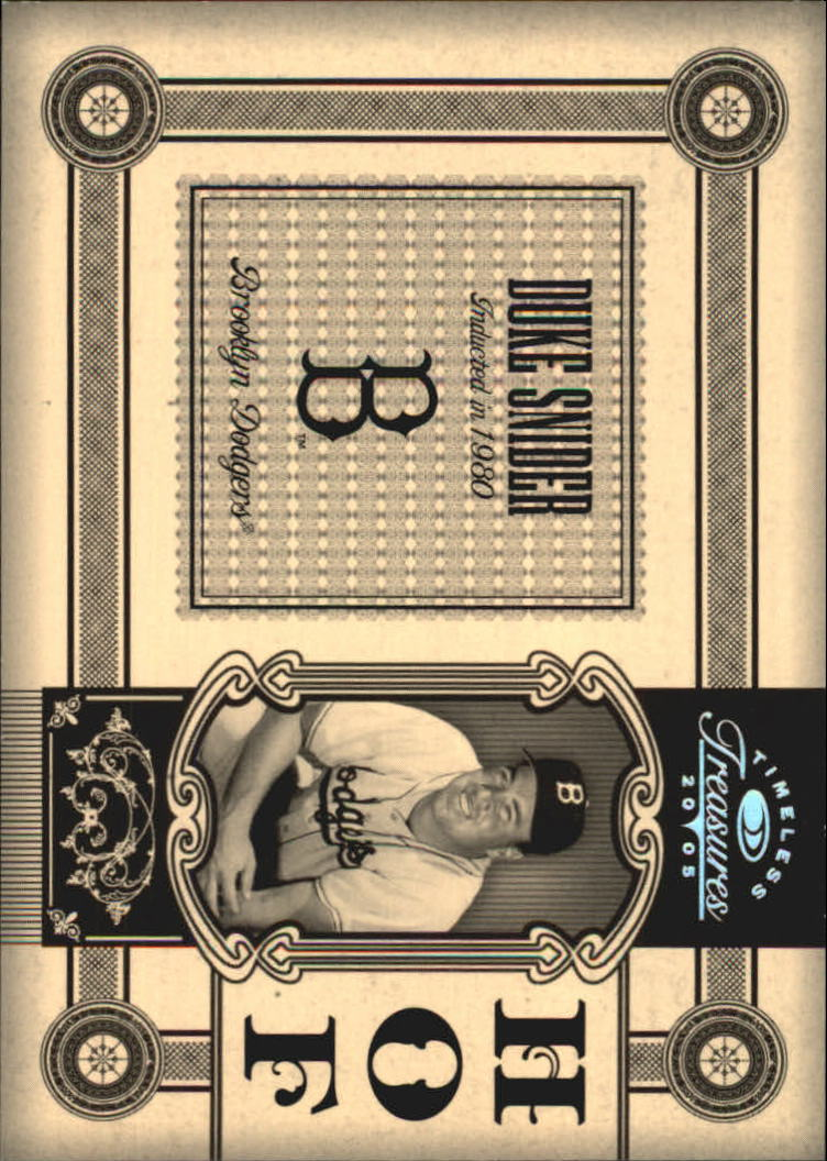 2005 Timeless Treasures HOF Silver #17 Duke Snider