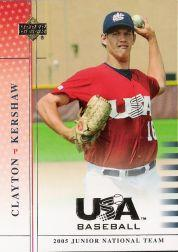 2005-06 USA Baseball Junior National Team #86 Clayton Kershaw