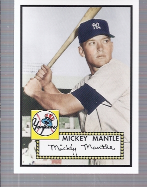 2006 Topps Rookie of the Week #1 Mickey Mantle 52
