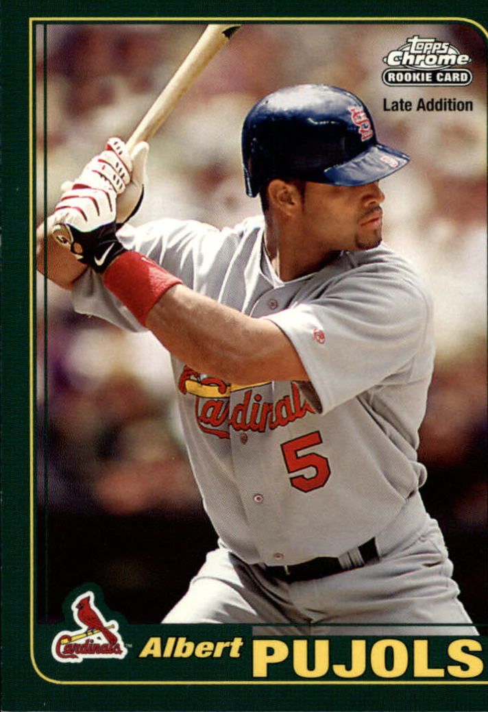 2006 Topps Rookie of the Week #6 Albert Pujols 01