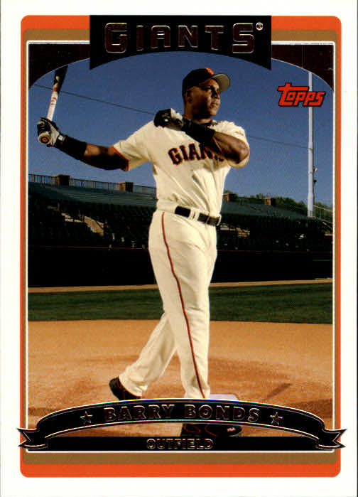 2006 Topps #100 Barry Bonds front image