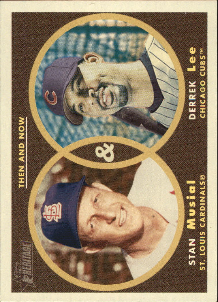 2006 Topps Heritage Then and Now #TN6 S.Musial/D.Lee