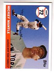 2006 Topps Mantle Home Run History #72 Mickey Mantle