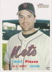 2006 Topps Heritage #2 Mike Piazza SP